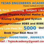 B Tech coaching in Delhi crash course 2015 October