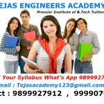 B.Tech tuitions in Delhi for first term examination