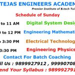 Schedule of B.tech Tuition In Delhi