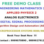 Tutors of Engineering Maths tuitions in Delhi