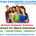B.Tech Tuition Institutes In Delhi First Semester students