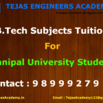 B.Tech Tuition In Delhi For Manipal University Students