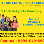 Important note for newly students admitted to Engineering Degree : B.Tech Tuitions in Delhi