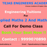 Engineering tuitions for Applied Maths – 2 and Maths – 4