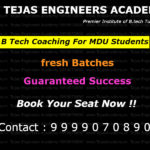 B Tech Coaching in Delhi For MDU Students