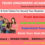 B.Tech tuitions in Delhi first and second year students