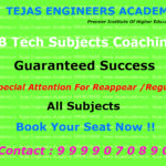 Schedule For B Tech coaching