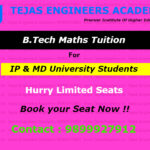 B.Tech maths tuition in Delhi to weak students