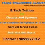 B.Tech tuition in Delhi for Circuits And Systems