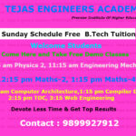Free Demo Classes Of B.Tech Tuitions