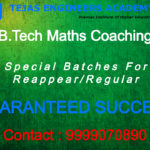 B.Tech subject Tuition classes for Maths 4