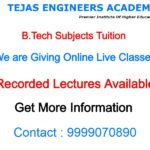 B.Tech tuition near me