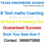 How to pass in Maths in B Tech ?
